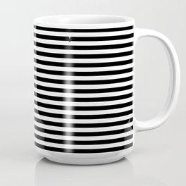 Stripe Black & White Vertical Coffee Mug