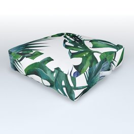 Tropical Palm Leaves Classic Outdoor Floor Cushion