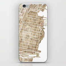 Hoboken New Jersey city map iPhone & iPod Skin