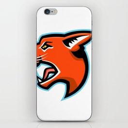 Caracal Head Side Mascot iPhone Skin