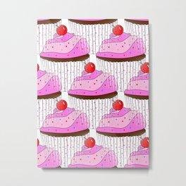 Sprinkle Cupcake Pattern Metal Print