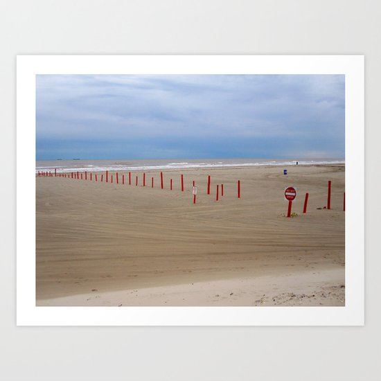 Reds and Blues Art Print