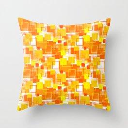 Mid-Century Modern - Orange Throw Pillow