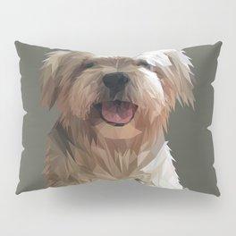 Shih tzu Low Poly Pillow Sham