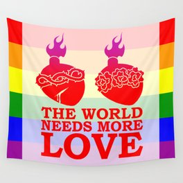Sacred Heart LGBT Pride Wall Tapestry