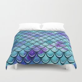 Mermaid Scales Watercolor Duvet Cover