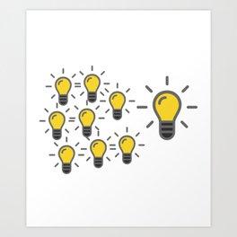 Problem Solving or Brainstorming Tshirt Design Brainstorming method for team Art Print
