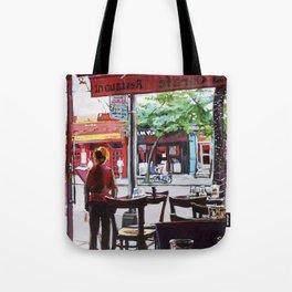 La Carafe in Hells Kitchen NYC Tote Bag