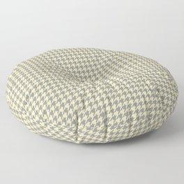 Grey Beige Houndstooth Pattern Floor Pillow