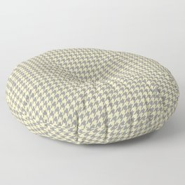 Grey Beige Houndstooth Pattern Floor Pillow