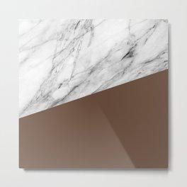 Marble with Emperador Color Metal Print