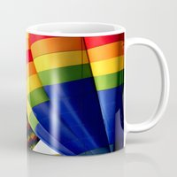 balloons Mugs featuring Balloons  by Rob Hawkins Photography