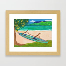 Tahiti Outrigger Framed Art Print