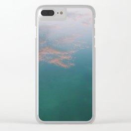 Pink Clouds Clear iPhone Case