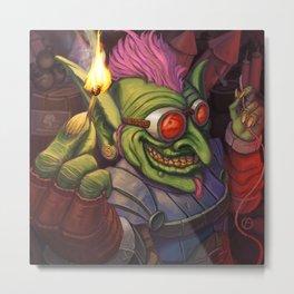 The Firework Maker Goblin Metal Print