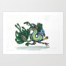 Wyvera argus (clean version) Art Print