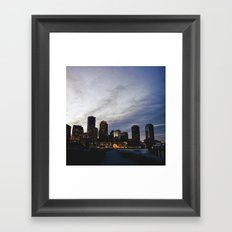 Christmas in Boston Framed Art Print