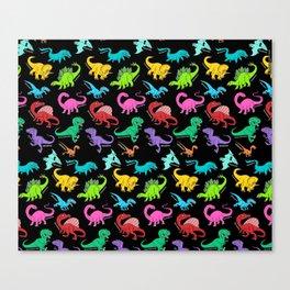 Rainbow dinosaurs Canvas Print