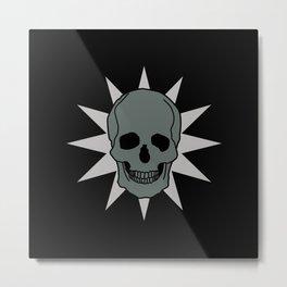 metal skull star Metal Print