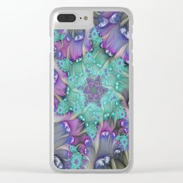 Find Yourself, Abstract Fractal Art Clear iPhone Case