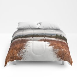 Winter Lily Pond Comforters