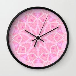 Geometric Bubblegum  Wall Clock