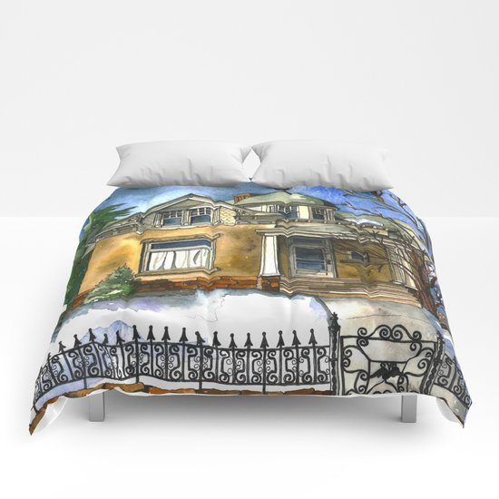 The Little Brown House Comforters