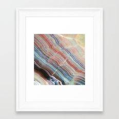 Pastel Onyx Marble Framed Art Print