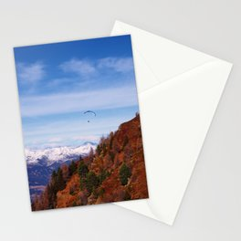 Paragliding the Italian Alps Stationery Cards