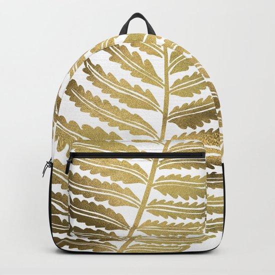 Golden Fern Leaf Backpack