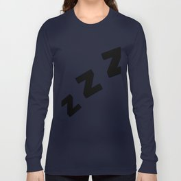 Zzzs in Black Long Sleeve T-shirt