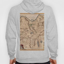 Map Of Asia 1650 Hoody