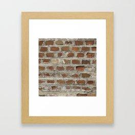 Texture #3 Bricks Framed Art Print