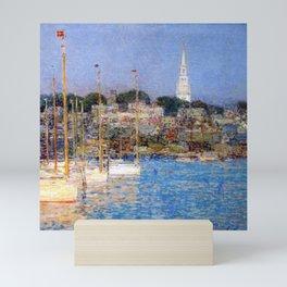 Newport Harbor, Newport, Rhode Island - Cat Boats by Frederick Childe Hassam Mini Art Print