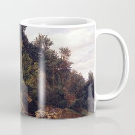 Ferdinand Georg Waldmüller Forest Road with Oxcart Coffee Mug