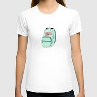 backpack T-shirts featuring Backpack by Mrs. Ciccoricco