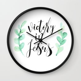 Victory In Jesus Wall Clock