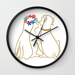 Wedding Dogs Wall Clock