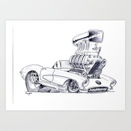 Blown Vette Art Print