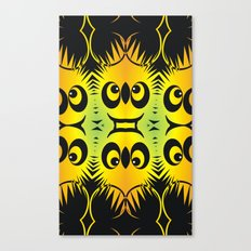 CVAn0044 Fussy Monster Smlies All Over Canvas Print