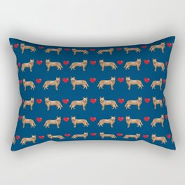 Australian Cattle Dog red heeler hearts love dog breed gifts cattle dogs Rectangular Pillow