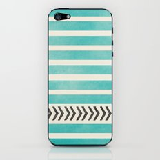 TEAL STRIPES AND ARROWS iPhone & iPod Skin