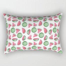 Watermelon Pattern, White Background Rectangular Pillow