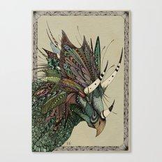 Decorated dinosaurs: Chasmosaurus Canvas Print