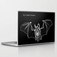vagina Laptop & iPad Skins featuring Batgina on black by oozingsalt