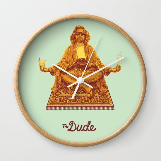 The Lebowski Series: The Dude Wall Clock