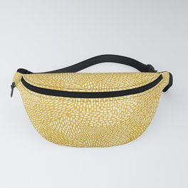 Abstract Brush Strokes, Mustard Yellow Fanny Pack