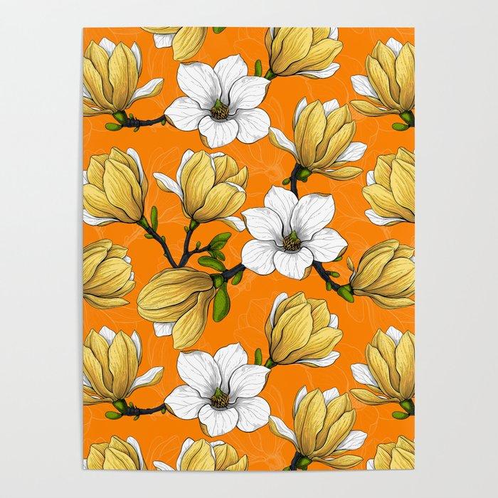 Magnolia garden in yellow    Poster