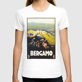 1920s Bergamo Italy travel T-shirt
