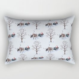Father Christmas in the Snow Rectangular Pillow